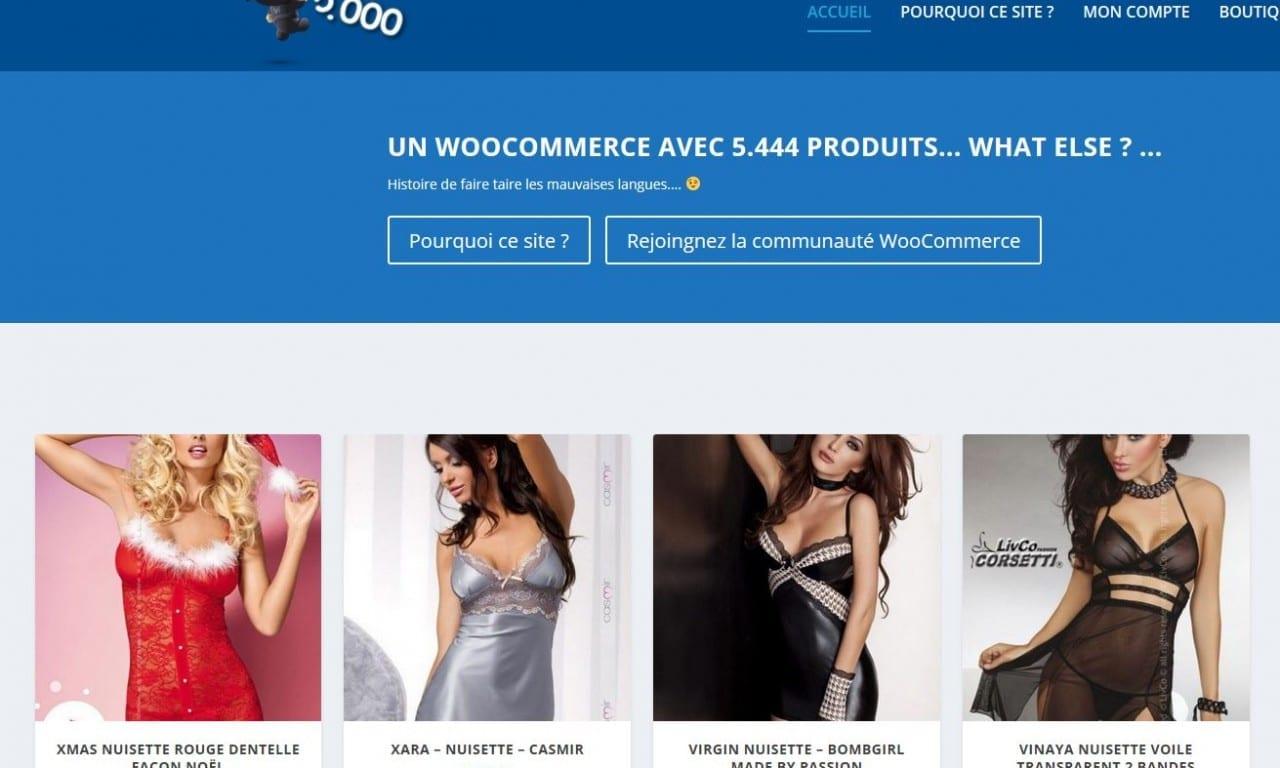 Woo 5000 produits