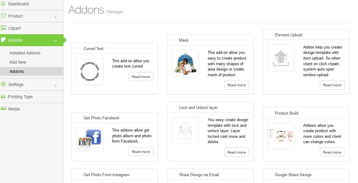 WooCommerce Custom Product Designer addon
