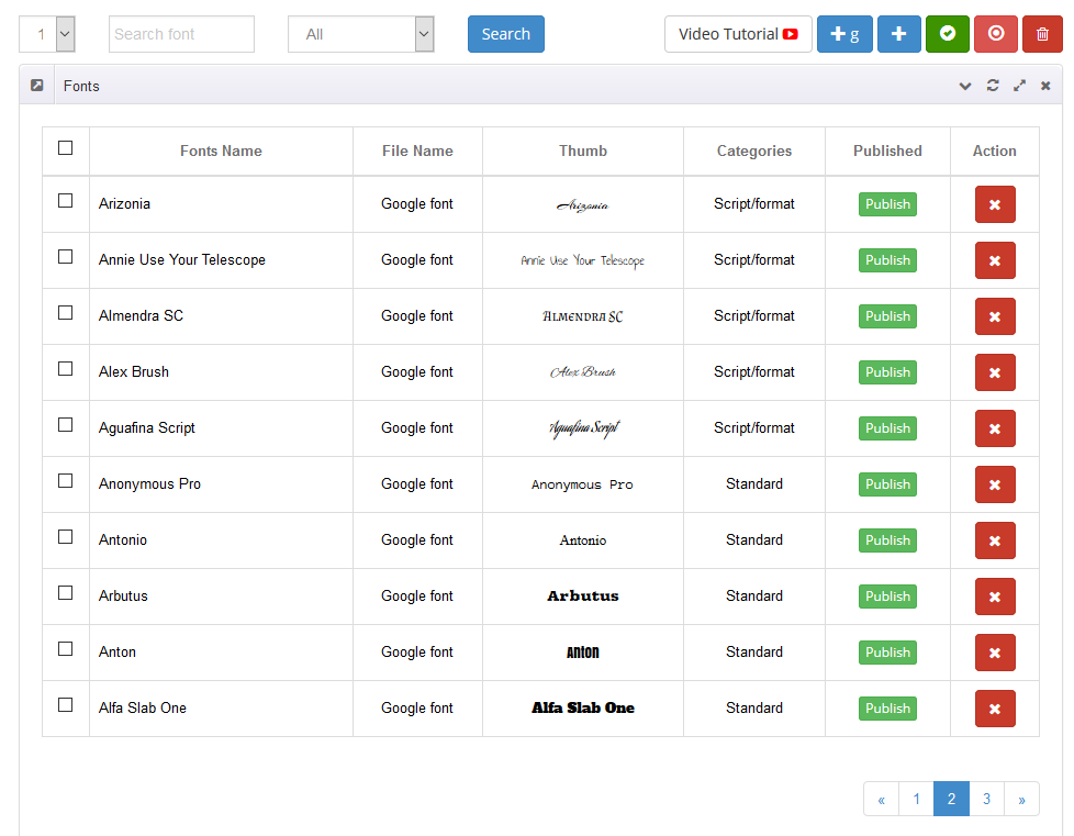 WooCommerce Custom Product Designer les polices de caractère