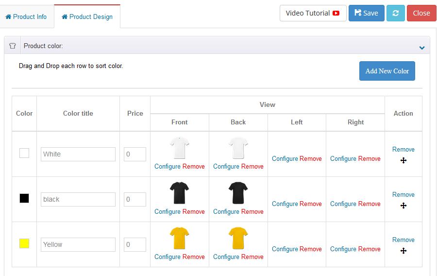 WooCommerce Custom Product Designer : Utilisation