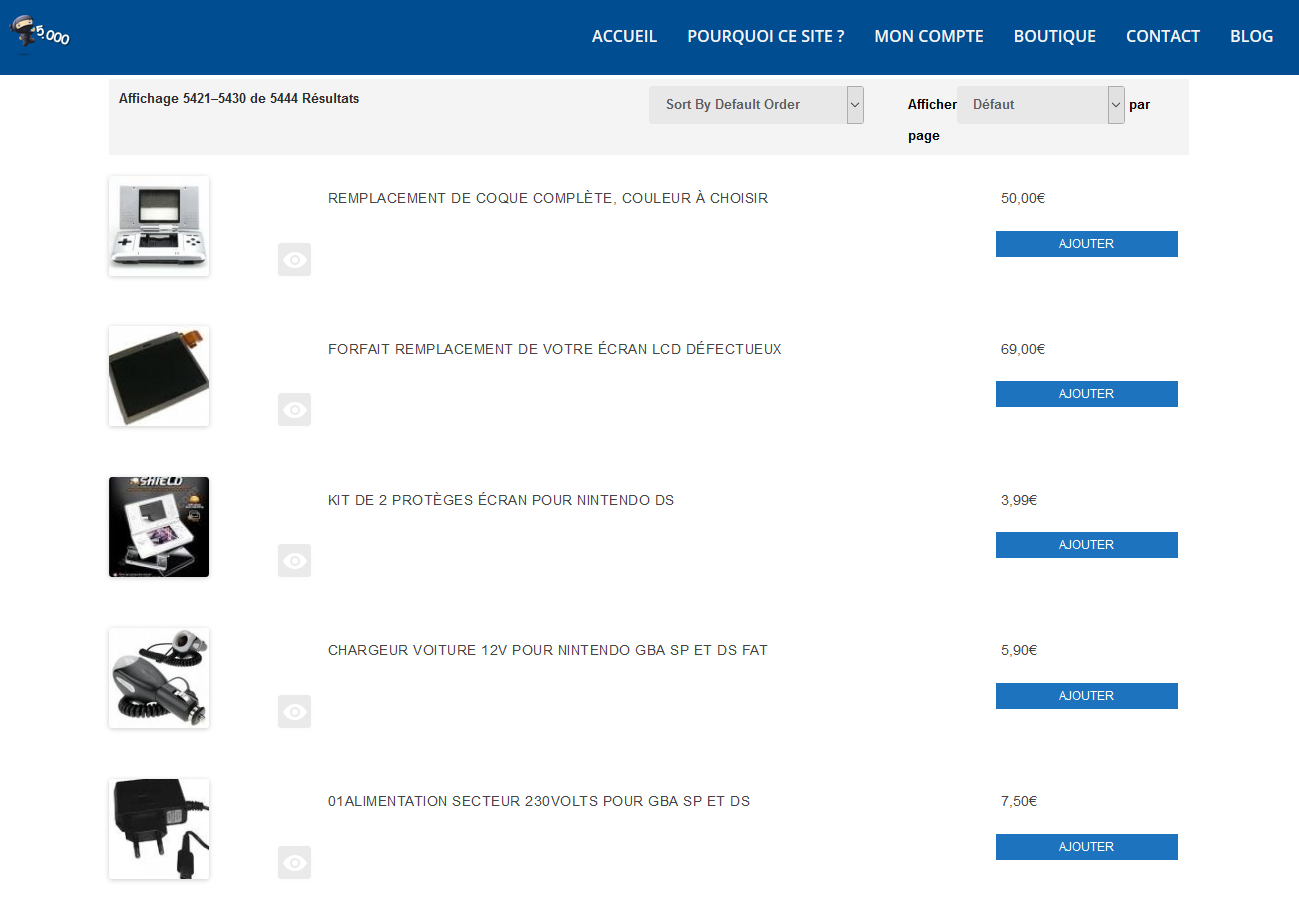 WooCommerce display-product affichage en liste