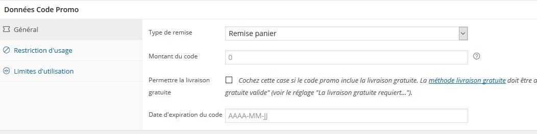 Gestion des coupons de réduction / Code promo dans WooCommerce