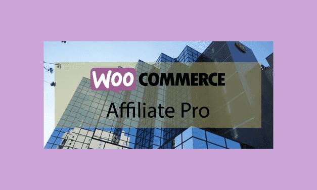 Woocommerce Affiliate Pro – Automatiser les commissions d'affiliations de ventes