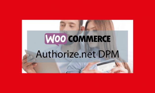 Plugin woocommerce Authorize.net DPM – Passerelle de paiement sécurisée