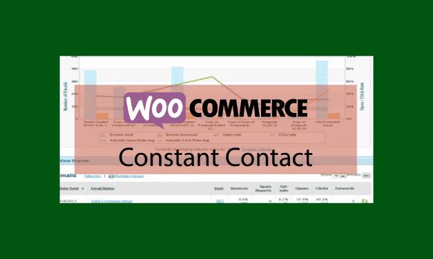 Plugin woocommerce Constant Contact – Outils marketing par courriel