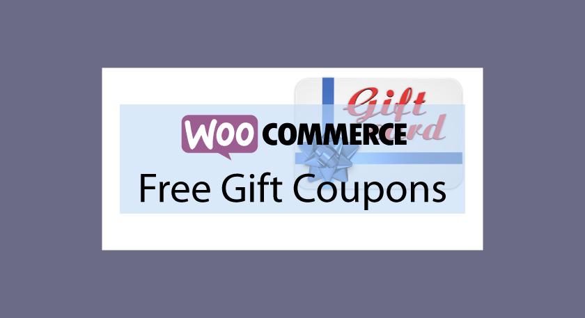 Carte Cadeau Woocommerce.Woocommerce Free Gift Coupons Cartes Cadeau Gratuits