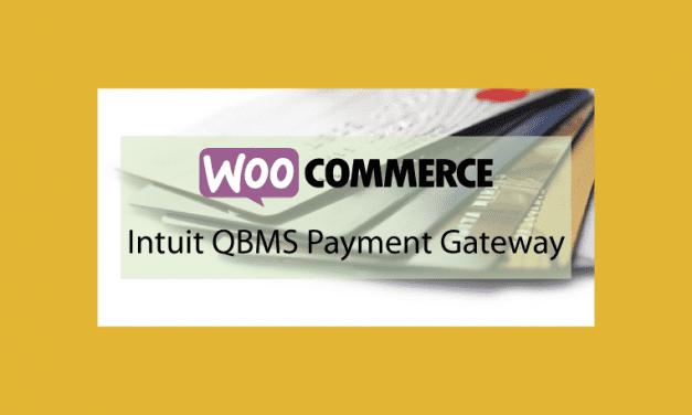 WOOCOMMERCE Intuit QBMS Payment Gateway – Passerelle de paiement Intuit