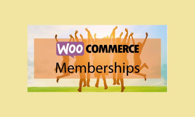 WOOCOMMERCE Memberships – Système d'espace membre