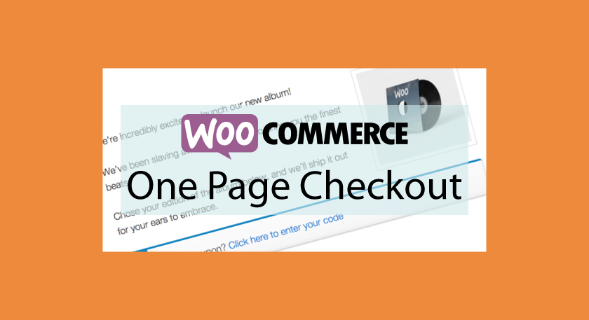 WOOCOMMERCE One Page Checkout – Processus d'achat en one page