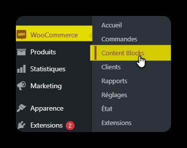 acces content blocks