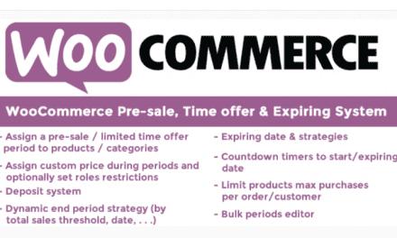 Plugin WooCommerce Pre-sale – Faites des préventes avec WooCommerce