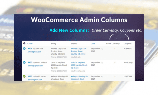 Plugin WooCommerce :WooCommerce Admin Columns Add-On
