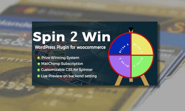 Plugin WooCommerce : Spin2Win – La roue de la fortune sur votre boutique
