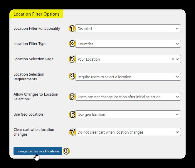 location filter options