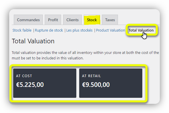 total valuation