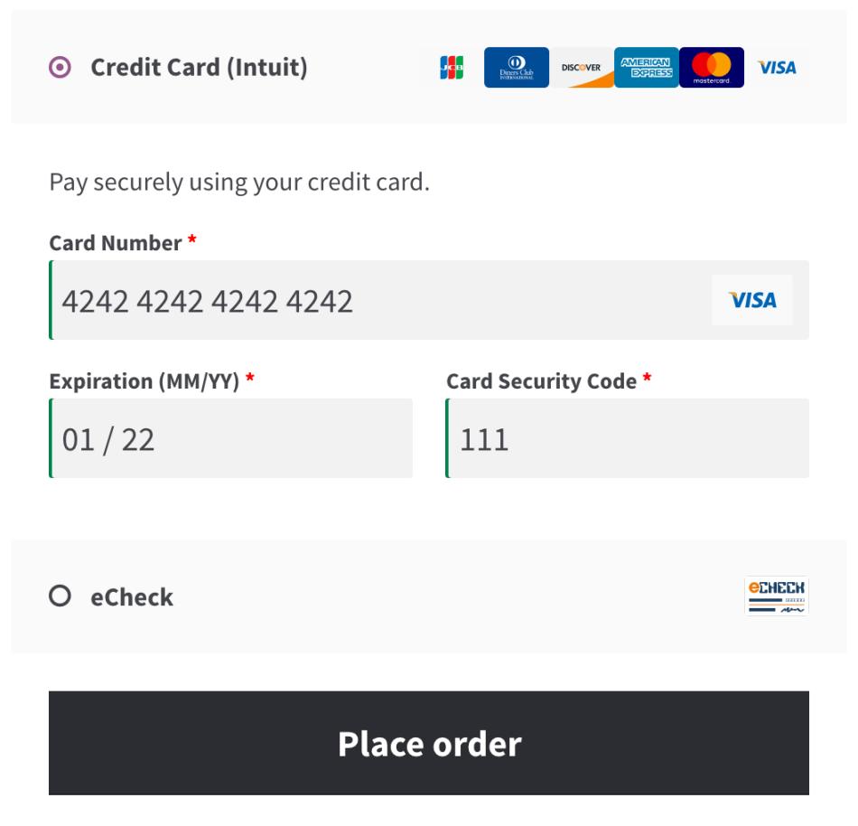 woocommerce Intuit QBMS Payment Gateway