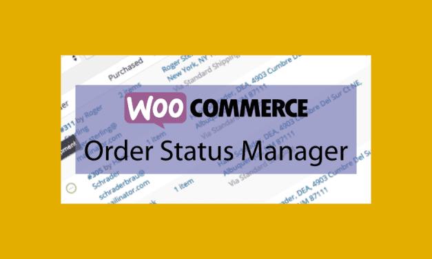 WOOCOMMERCE Order Status Manager – Gestionnaire d'état des commandes