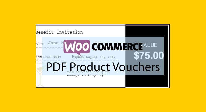 WOOCOMMERCEPDF Product Vouchers – Coupons au format PDF