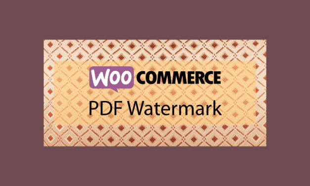 WOOCOMMERCE PDF Watermark – Protection fichiers PDF