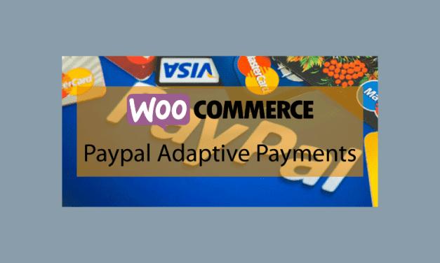 WOOCOMMERCE Paypal Adaptive Payments – Gestion des paiements entre expéditeur et destinataires