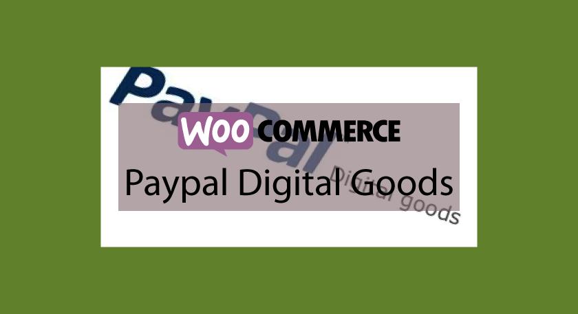 WOOCOMMERCE Paypal Digital Goods – Paiement via paypal