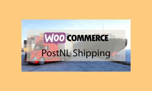 WOOCOMMERCE PostNL Shipping – Méthode de livraison PostNL