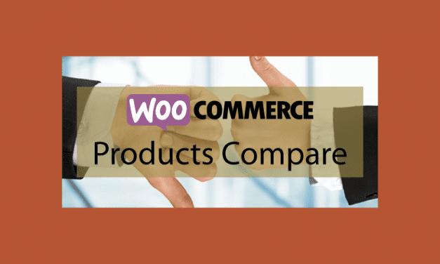 WOOCOMMERCE Products Compare – Comparateur de produits