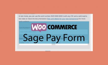 WOOCOMMERCESage Pay Form – Formulaire de paiement SagePay