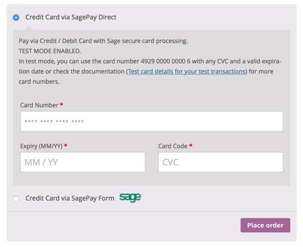 SagePay Form SagePay Direct