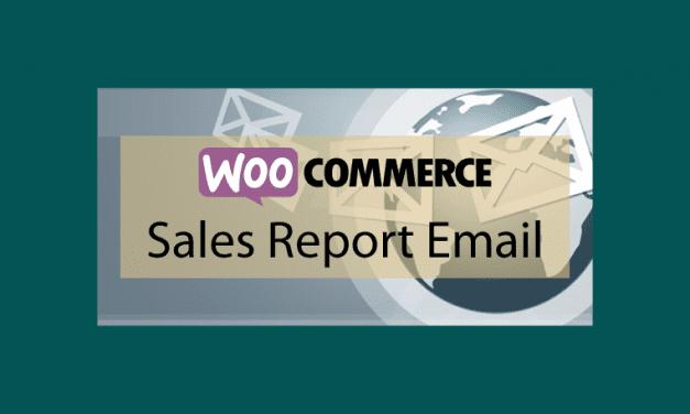 WOOCOMMERCESales Report Email – Rapports de vente par email