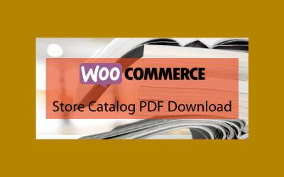 WOOCOMMERCEStore Catalog PDF Download – Télécharger le catalogue de votre boutique