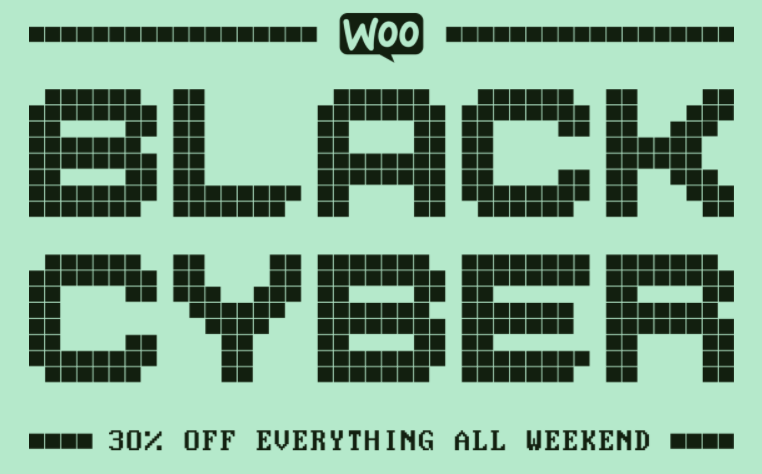 WooCommerce Fait son cyber black Week End