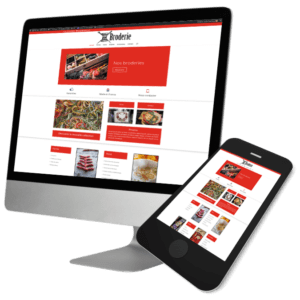 Theme WordPress-Woocommerce – Free Divi Layout -Gratuit – Template broderie