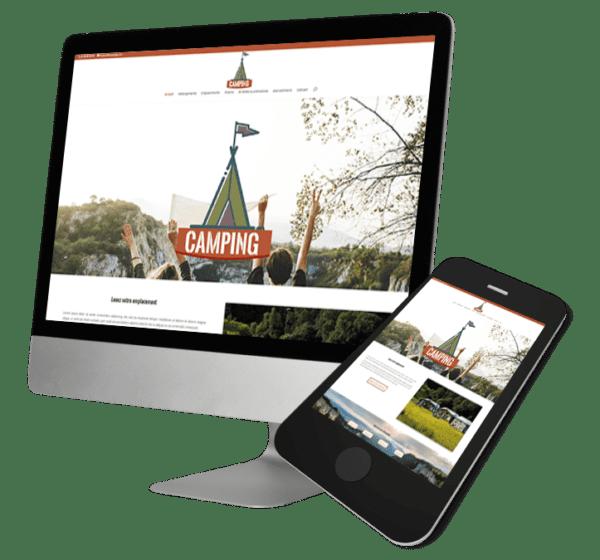 Theme WordPress-Woocommerce – Free Divi Layout -Gratuit – Template camping