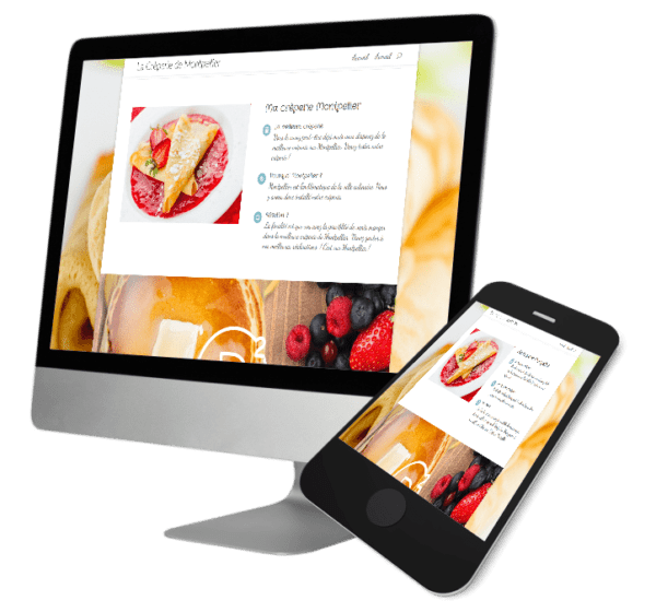 Theme WordPress-Woocommerce – Free Divi Layout -Gratuit – Crêperie Montpellier