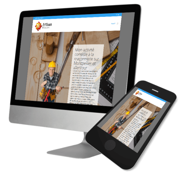 Theme WordPress-Woocommerce – Free Divi Layout -Gratuit – Artisan Maçon Montpellier