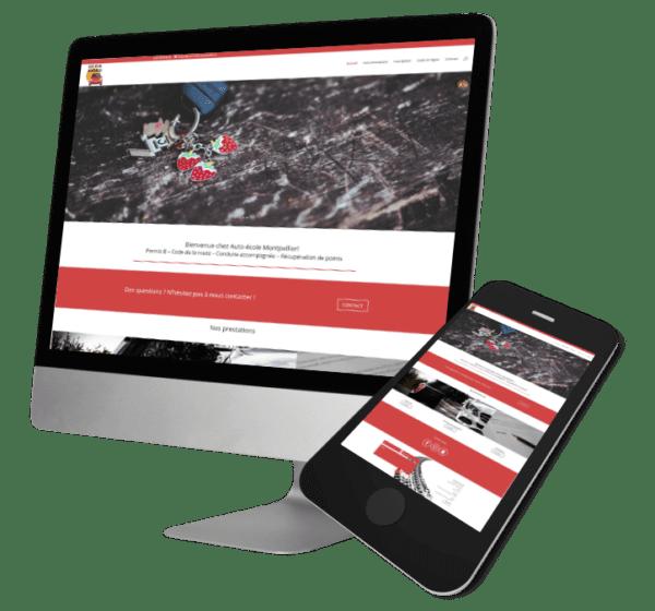 Theme WordPress-Woocommerce – Free Divi Layout -Gratuit – Template Auto-école
