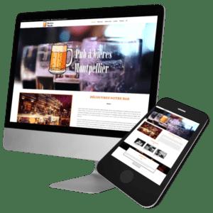 Theme WordPress-Woocommerce – Free Divi Layout -Gratuit – Template Pub à bières