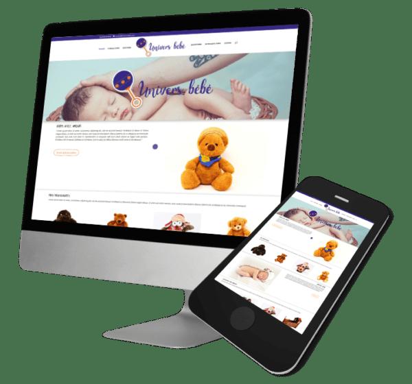 Theme WordPress-Woocommerce – Free Divi Layout -Gratuit – Template univers de bébé