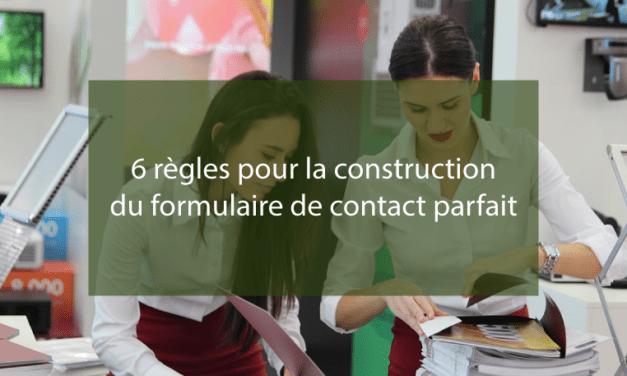 6 règles pour la construction du formulaire de contact parfait