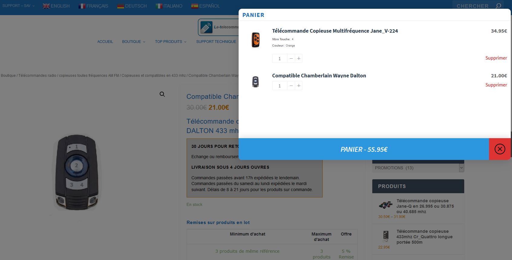 On a testé – Woo floating cart – plugin pour woocommerce