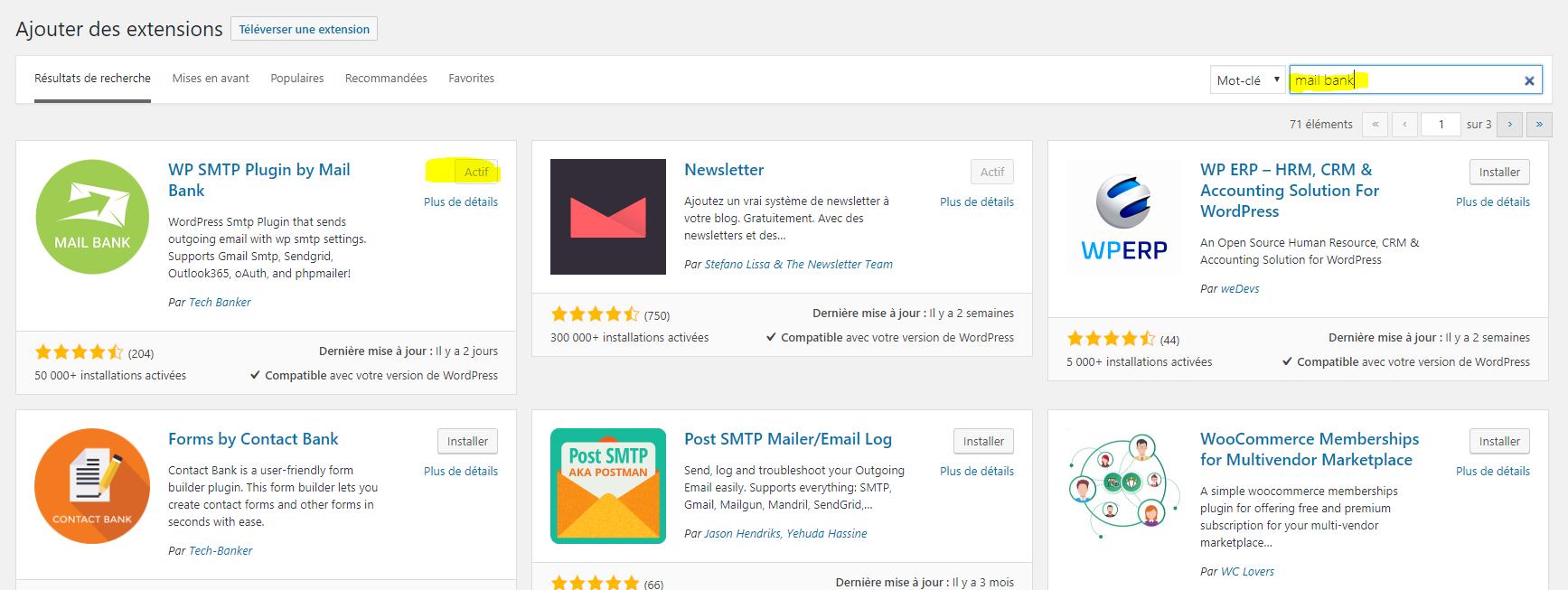 On a testé Mail bank un plug-in WordPress envoyer ses mails via SMTP