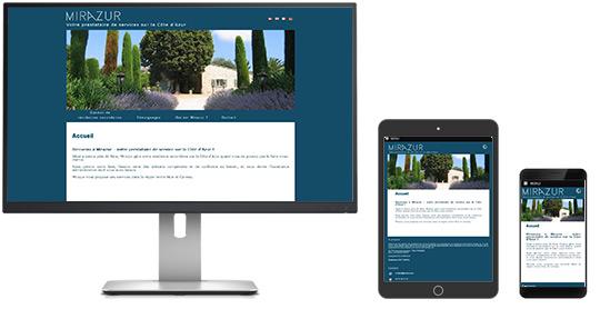 Site web MIRAZUR