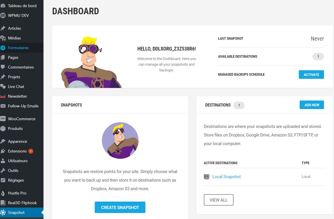 On a testé Snapshots Pro – Plugin pour effectuer des sauvegardes automatiques avec WordPress