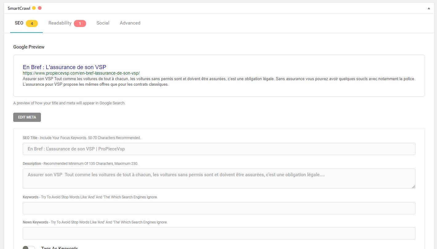 Smart crawl Plugin WordPress