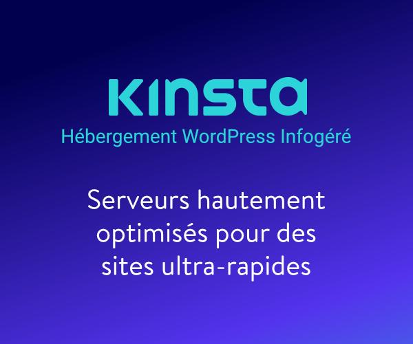 Kinsta – Hébergement WordPress Infogéré