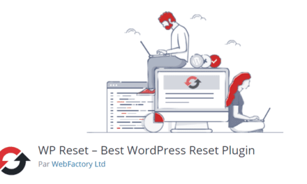 On a testé : WP Reset Best WordPress Reset Plugin