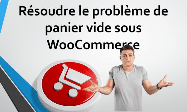 WooCommerce: Résoudre le problème du « panier vide»