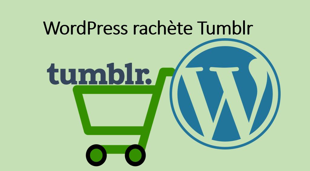 WordPress rachette la plate forme de blogs Tumblr  … pour une bouchée de pain ;)