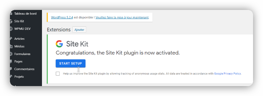 configuration google kit 1